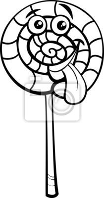 Lollipop Candy Cartoon Malvorlagen Leinwandbilder Bilder Färben