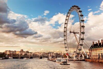 Bild London, England, Großbritannien Skyline. Die Themse