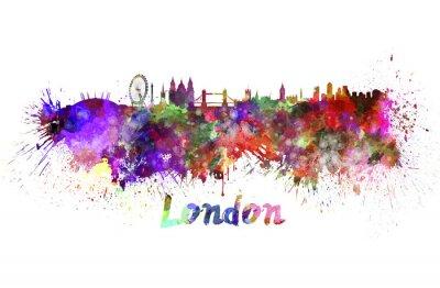 Bild London skyline in watercolor