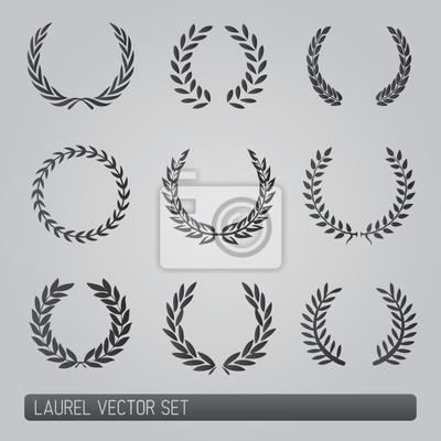 Lorbeerkranz Vektor-Set