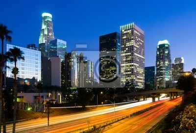 Bild Los Angeles Innenstadt in der Nacht