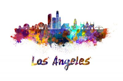 Bild Los Angeles skyline in watercolor