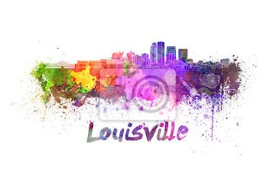 Bild Louisville skyline in watercolor