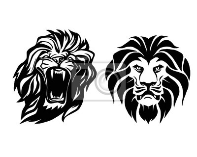 Lion Head Icon Theme Template Vector Art 1