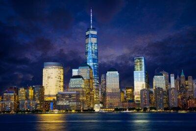 Bild Lower Manhattan Skyline an der Dämmerung, New York