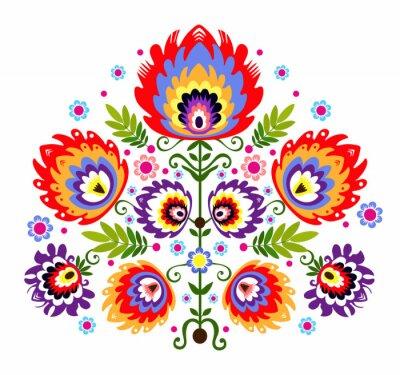 Bild Ludowy wzór - kwiaty