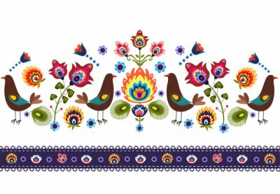 Bild Ludowy wzór z ptakami