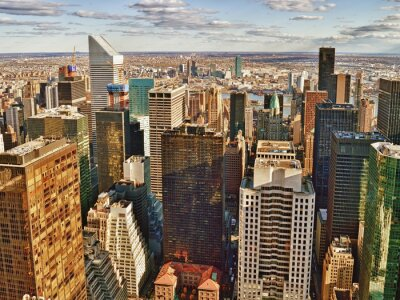 Bild Luftaufnahme der New York City.