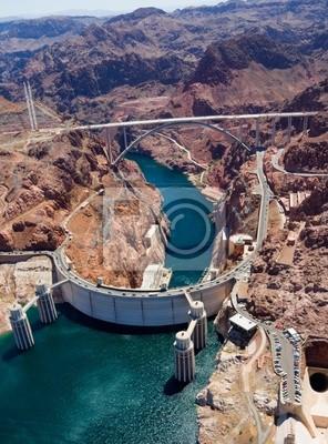 Bild Luftaufnahme des Hoover Dam und den Colorado River Bridge