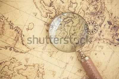 Bild Lupe, Karten, Finanzen, Business, Tourismus, Erkundung