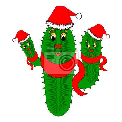 Lustige Weihnachtskaktus