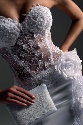 Bild luxe Braut in figurbetontes Kleid, Katalog Fotos
