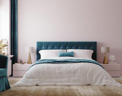 Bild Luxury bedroom interior background, 3d render