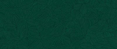 Bild Luxury Nature green background vector. Floral pattern, Tropical plant line arts, Vector illustration.