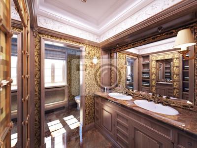 Bild: Luxus antike badezimmer - badezimmer barokes