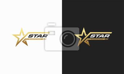 Bild Luxusgoldsternlogo entwirft Schablone, elegante Sternlogodesigns, schnelles Sternlogo entwirft Konzept