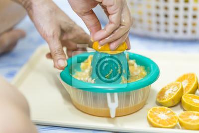 Machen Orangensaft