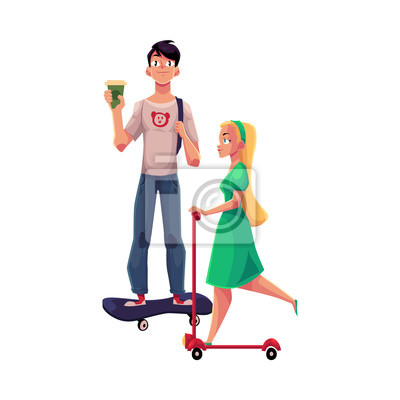 Weißes Mädchen reitet weißen Kerl