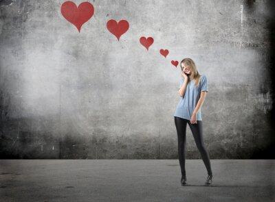 Mädchen in der Liebe