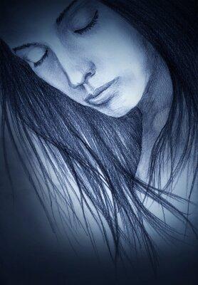 Bild Mädchen mit geschlossenen Augen