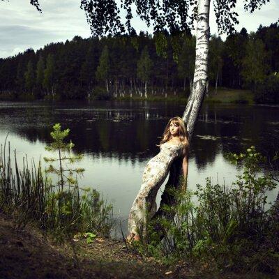 Bild Mädchen und Fluss