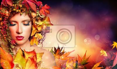 Magie Herbst-Frau - Schönheit Mode Modell Mädchen
