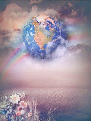 Bild Magische Landschaft mit Regenbogen
