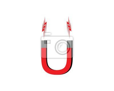 Magnet-symbol, magnet-logo-vektor leinwandbilder • bilder ...
