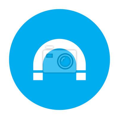 Magnet-symbol, vektor leinwandbilder • bilder Magnetismus, Hufeisen ...