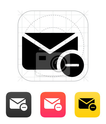 Mail-Symbol entfernen. Vektor-Illustration.