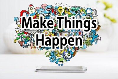 Bild Make Things geschieht Konzept mit Smartphone