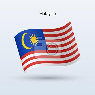 Malaysia Fahnenschwingen Form. Vektor-Illustration.