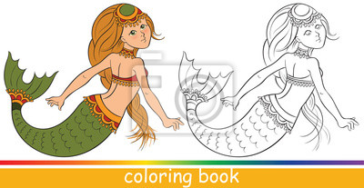 Bild Malbuch Oder Ausmalbilder Für Kinder Mit Farbigen Muster