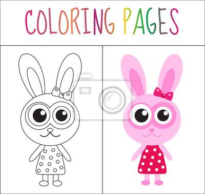 Malbuchbuchseite. skizze und farbversion. färben für kinder ...