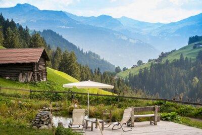 Bild Malerischen Entspannungspunkt In Den Alpen Entspannen
