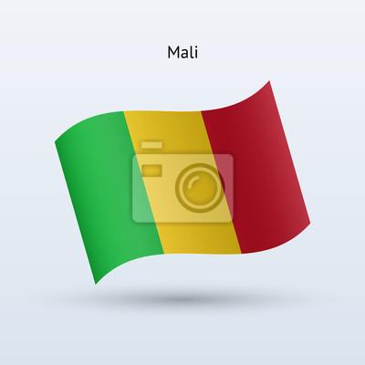Mali Fahnenschwingen Form. Vektor-Illustration.