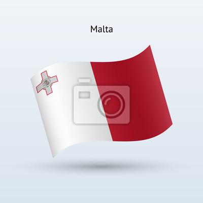 Malta Fahnenschwingen Form. Vektor-Illustration.