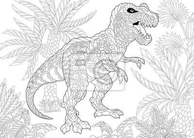 Malvorlage Des Tyrannosaurus T Rex Dinosaurier Der Späten