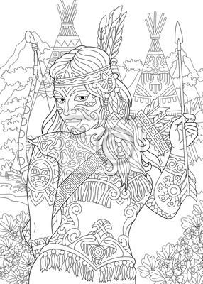 indianische muster malvorlagen - ausmalbilder