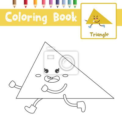 Bild Malvorlage Von Dreieck Form Für Vorschule Kinder Aktivität Pädagogischen