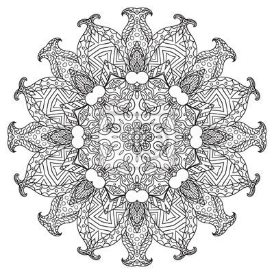 Bild Malvorlagen Für Erwachsene Qualle Mit Ornament
