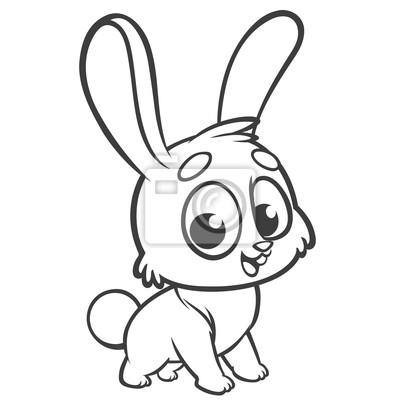 Malvorlagen Tiere Karikatur Von Einem Kleinen Süßen Häschen