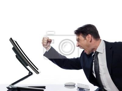 Man Beziehung mit Computer Fehlfunktion Konzept
