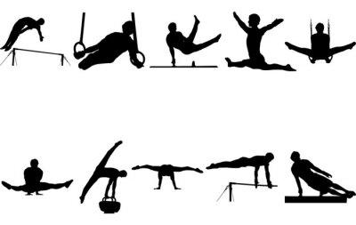 Bild Man Gymnast silhouette vector