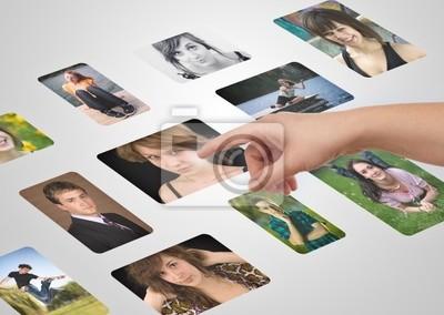 Man Hand auswählen Fotos