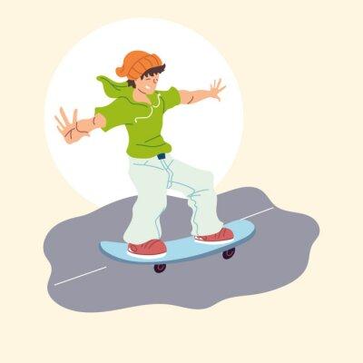 man on skateboard, outdoor activity