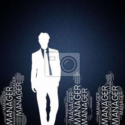 Bild Manager - Konzept Wallpaper mit den Menschen Silhouette