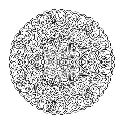Mandala Ausmalbilder Vektor Illustration Leinwandbilder Bilder