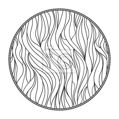 Mandala Linie Hintergrund Hand Gezeichnete Linien