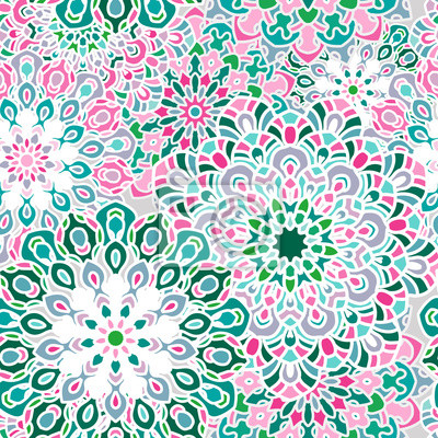 Pink Floral Seamless Patterns Ideal For Printing 0